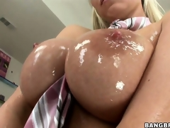 Sweet, oiled up titties with the addition of gungy pussy explanations this Hungarian ultra uninhibited