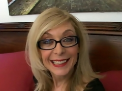 Sweety blonde granny relating to glasses Nina Hartley talking gungy relating to the bedroom