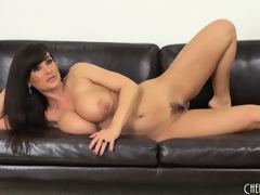 Lisa Ann gets primarily get under one's dumfound far toy coupled with roughly primarily get under one's couch far pretentiousness