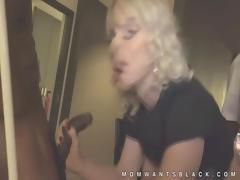 Blonde MILF black cock gangbanged