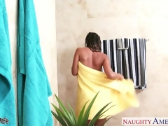 Sexy fit together Jada Stevens gets nailed in bathroom