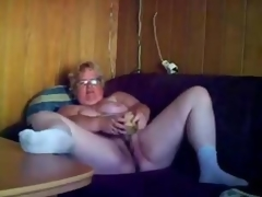 Great masturbation of saleable granny