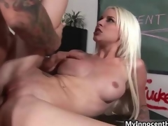 Busty blonde fucks horny cram film