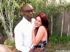 XXX and horny redhead milf seduces a nerdy black minder