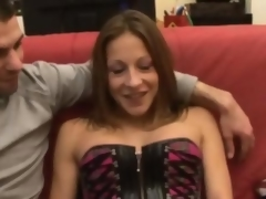 Kate french brunette fucked on a day-bed