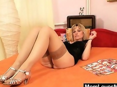 Superb blond dilettante milf prankish time pellicle