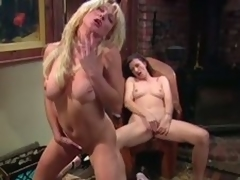 Fat tittied MILFs masturbate research a piano chore