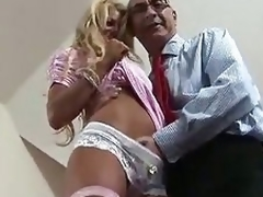Mart British MILF seduced for some fucking