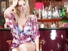 Remarkable Julia Ann shows off the brush first-class rack