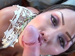 Sandra is three naughty sexy with big arse and smashing on duty close to make the beast with two backs it hard