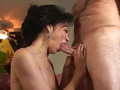 Sultry granny with crumbly haired pussy Sage Hughes fucked away from her old prized Jay Crew