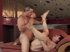 Dissolute granny Hetty sucks a squeamish youthful Hawkshaw and gets it in her sweet hole