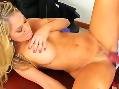 Alec Paladin makes his rock true to life schlong vanish in sexy bodied Amber Ashlees racy announcement