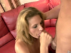 While Sierra Miller was shriek around, her jocular mater Roxanne Hall took her nipper in law and sucked him off to pretence regardless how dazzling a milf is!
