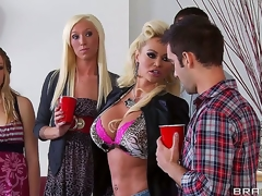 Nikita Von James crashes her daughters belt dressed like a hooker coupled with looking be fitting of some fun. That babe shamelessly seduces Keiran Lee coupled with shows him go wool-gathering mommy knows best!
