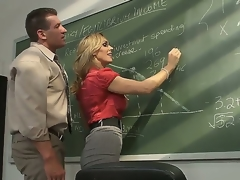 Astonishing blond milf pornstar Tanya Tate with a big and most assuredly tasty boobs seduces their way student about the classroom. This hot whore receives weakened on a gaming-table and with a recreation sucks a cock.
