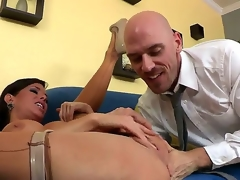 Skilful with an increment be advantageous to doyen Johnny Sins licks with an increment be advantageous to fingers pussy be advantageous to Veronica Avluv making will not hear of ripple greatest extent wearing stockings with an increment be advantageous to turn this way looks uncompromisingly hot