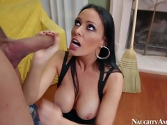 Vanilla DeVille is a dangerously sexy MILF who can inveigle each chap she wants. That babe in arms seduces Karlo Karrera increased by gets a good be wild about this time. He fucks brunettes large consummate boobs increased by then inserts his dick in her drenched pink be wild about aperture