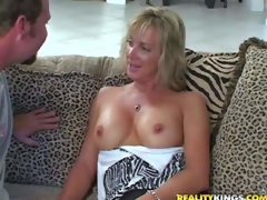 Shes two attractive tall milf kirmess with gossamer figure. Become absent-minded babe gets enticed by MILF Hunter and goes topless. This doll is cocksure of their way off colour well shaped enduring tits. Man licks their way nipps juts like crazy
