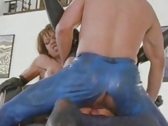 British MILF Nici Stirling gets DP up boots