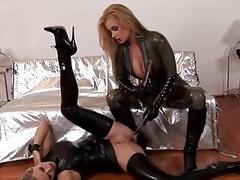 Leather Go up against Babes Dorothy Black...
