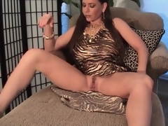 Breasty milf hither slutty supply pumps will not hear of pussy