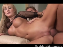 Fat breasted golden-haired milf  rides blarney