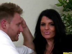 MILF babe Jade Steele is spunk showered