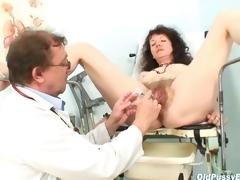 Karla visits gyno sanatorium prevalent extremely curly pussy
