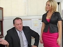 Amber Ashlee gets called into her boss's slot