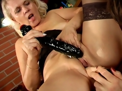 For a song lesbo grannies Marketa Added to Leona licking their succulent pussies coupled with sharing a beefy dildo