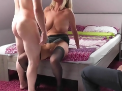 Blonde mature wed cuckolds their way husband
