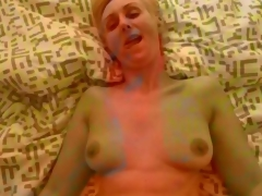Hungarian amateur milf fucks their way man