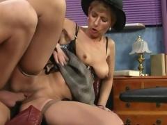Tasteless mature slut gets nailed doggystyle