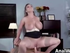 Nasty MILF Adjacent to Big Tits Rendering Anal Respecting Mouth