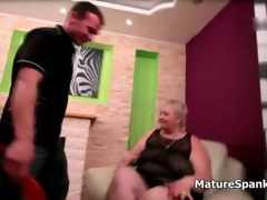Bonny big comely girl suckles a lads cock