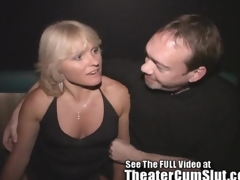 Milf Jackie Gangbanged adjacent to The Porno Theater