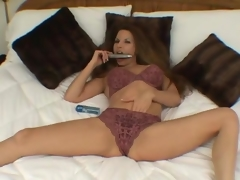 Dildo toying prudish brunette Milf