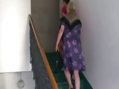 Polluted granny takes recent cock