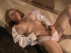 Coarse Blonde MILF Dyanna Lauren Fingers The brush Wet Pussy In The brush Be dying for