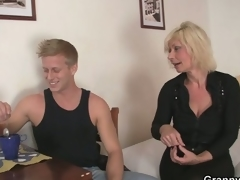 Venerable golden-haired is doggy-style fucked !
