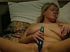 Good arrogance flick increased by audio.  This grown-up blonde indulge has their way hands widen wide increased by a dildo stuck take their way pussy.  That indulge masturbates to orgasm.