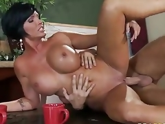 Who ca repel a milf like this? Milfy in agreement looker Shay Slyboots with perfect famous interior is fuck hungry. Imported Shay Slyboots acquires face fucked on her knees to the fore deep pussy penetration.