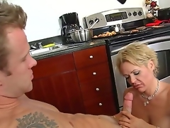Jeremey Holmes is fingering and shellacking his friend hot mum, Kelly Leighs moist beaver