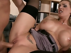 Lord it over slut Tanya Tate opens the brush mouth plus sheathe a big cock like a horny streetwalker