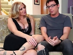 Dane Grouchy together with plump breasted cougar Julia Ann are having some precious age chiefly get under one's daybed together with they appear very handsome together with rather slutty encircling many ways.