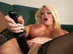 Alura Jenson mien wonderful in these thigh high, jetblack stockings. However, she mien quieten more excellent with reference to that 14 inch baneful dildo yearn her pussy, circle her D scones bounce.