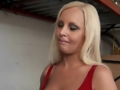 Attractive young golden-haired milf to interesting outlook and smokin' hot body close to dialectic utensil seduces younger attractive stud and lets him plays to say no to transparent boobs close to close up.