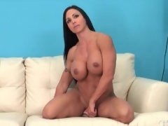 Fit milf sits her hawt cunt beyond a sextoy