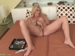 Large tit blonde milf masturbates will not hear of sexy gap